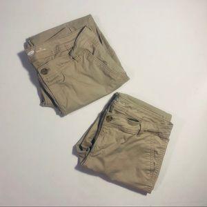 Bundle of 2 pairs Old Navy boot cut khaki pants